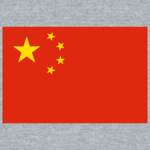 Flag of China - Unisex Tri-Blend T-Shirt by American Apparel