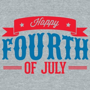 happy_fourth_of_july - Unisex Tri-Blend T-Shirt by American Apparel