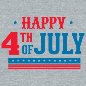 happy_4th_of_july - Unisex Tri-Blend T-Shirt by American Apparel