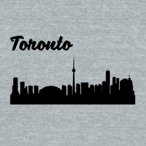 Toronto Skyline - Unisex Tri-Blend T-Shirt by American Apparel