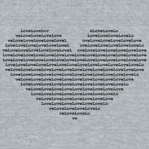 Isle of black Ascii Heart | by Isles of Shirts - Unisex Tri-Blend T-Shirt by American Apparel