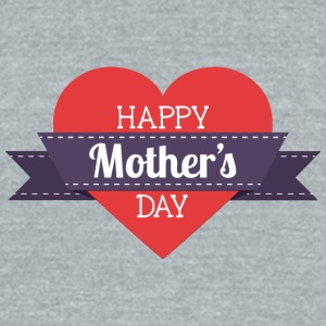 happy_mother-s_day_heart - Unisex Tri-Blend T-Shirt by American Apparel