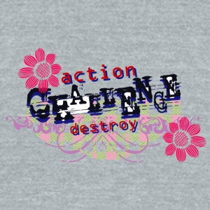 ACTION DESTROY - Unisex Tri-Blend T-Shirt by American Apparel