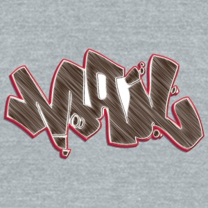 mail_graffiti_brown - Unisex Tri-Blend T-Shirt by American Apparel