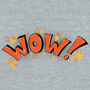 WOW - Unisex Tri-Blend T-Shirt by American Apparel