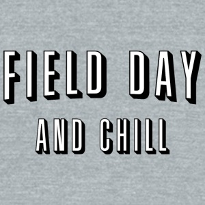 Field Day And Chill - Unisex Tri-Blend T-Shirt by American Apparel