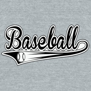 basseballl - Unisex Tri-Blend T-Shirt by American Apparel