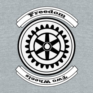 Two Wheels Freedom - Unisex Tri-Blend T-Shirt by American Apparel