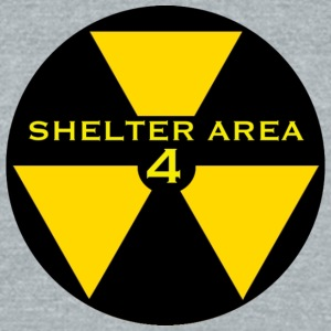 ShelterArea4 patch yellow - Unisex Tri-Blend T-Shirt by American Apparel