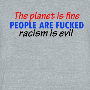 cool racist designs - Unisex Tri-Blend T-Shirt by American Apparel