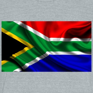 South-African-Flag - Unisex Tri-Blend T-Shirt by American Apparel