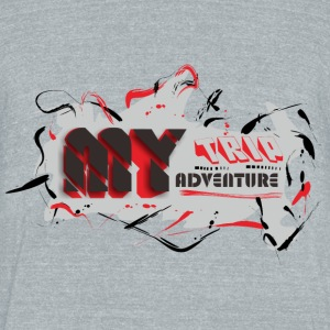 MY TRIP MY ADVENTURE - Unisex Tri-Blend T-Shirt by American Apparel