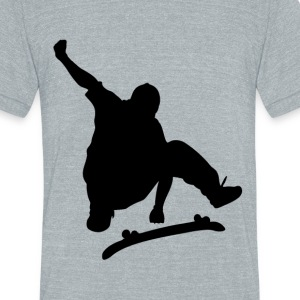 Jumping skater - Unisex Tri-Blend T-Shirt by American Apparel