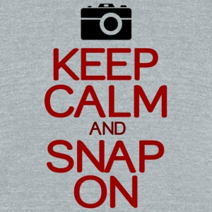 Keep calm snap on - Unisex Tri-Blend T-Shirt by American Apparel