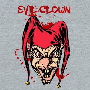 EVIL_CLOWN_6_bloody - Unisex Tri-Blend T-Shirt by American Apparel