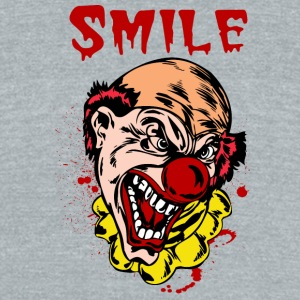 EVIL_CLOWN_33_smile - Unisex Tri-Blend T-Shirt by American Apparel