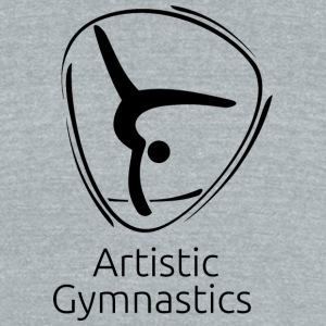 Artistic_gymnastics_black - Unisex Tri-Blend T-Shirt by American Apparel