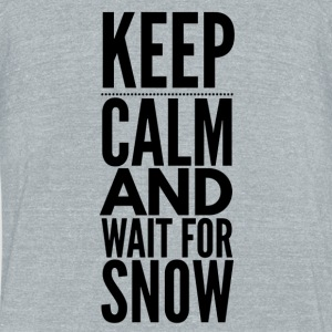 KeepCalm Snow - Unisex Tri-Blend T-Shirt by American Apparel