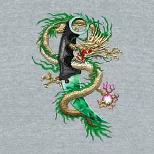 Karambit Emerald dragon - Unisex Tri-Blend T-Shirt by American Apparel
