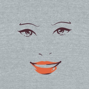 Smiling woman face - Unisex Tri-Blend T-Shirt by American Apparel
