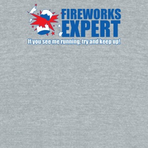 Fireworks Expert - Unisex Tri-Blend T-Shirt by American Apparel
