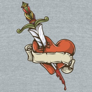 knife_wound_heart - Unisex Tri-Blend T-Shirt by American Apparel