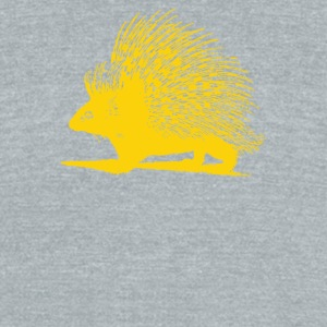Hedgehog Indian Crested Porcupine - Unisex Tri-Blend T-Shirt by American Apparel