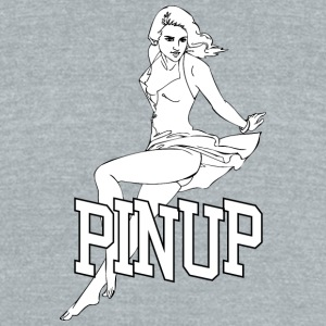 laying_pinup_sexy_girl - Unisex Tri-Blend T-Shirt by American Apparel