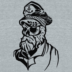 sea wolf skull tattoo sailor - Unisex Tri-Blend T-Shirt by American Apparel