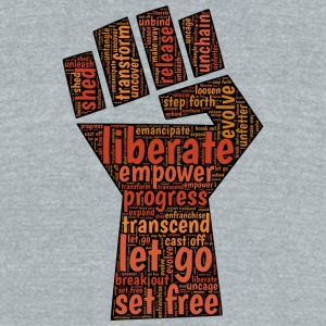 Liberate - Fist - Unisex Tri-Blend T-Shirt by American Apparel