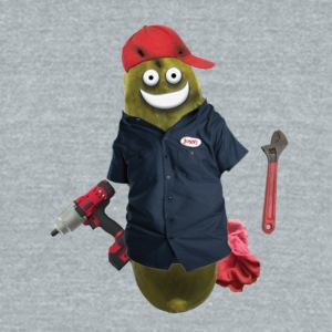 Mechanic Pickle - Unisex Tri-Blend T-Shirt by American Apparel