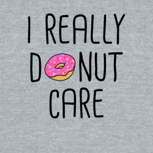 I REALLY DONUT CARE - Unisex Tri-Blend T-Shirt by American Apparel
