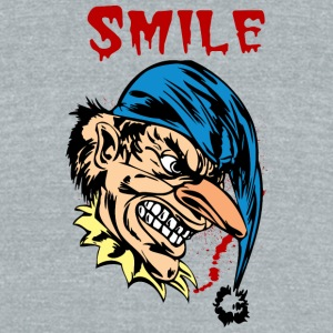 EVIL_CLOWN_37_smile - Unisex Tri-Blend T-Shirt by American Apparel