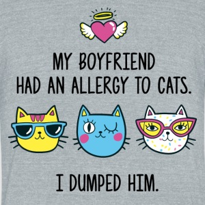Allergy to cats - Unisex Tri-Blend T-Shirt by American Apparel