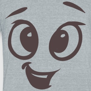 Funny talking face - Unisex Tri-Blend T-Shirt by American Apparel
