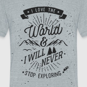 Explore the World - Unisex Tri-Blend T-Shirt by American Apparel