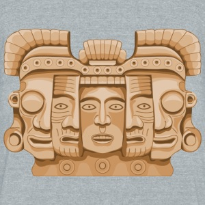 mask revealing - Unisex Tri-Blend T-Shirt by American Apparel