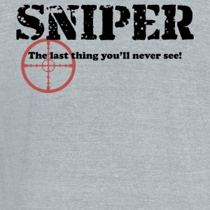 Sniper See - Unisex Tri-Blend T-Shirt by American Apparel