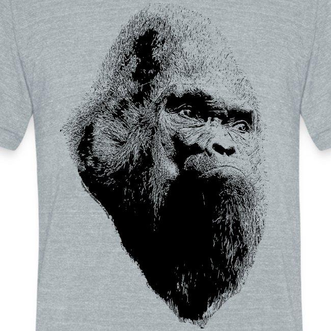 Sasquatch Bigfoot Portrait Black Print Shirt