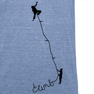 Climbing - Unisex Tri-Blend T-Shirt by American Apparel