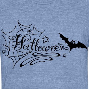 Halloween Lettering - Unisex Tri-Blend T-Shirt by American Apparel