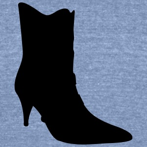 Vector high heels shoes Silhouette - Unisex Tri-Blend T-Shirt by American Apparel