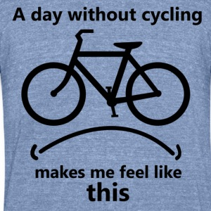 Cycling makes me happy - Unisex Tri-Blend T-Shirt by American Apparel