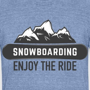 ENJOY THE RIDE - Unisex Tri-Blend T-Shirt by American Apparel