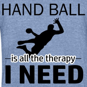 Hand Ball is my therapy - Unisex Tri-Blend T-Shirt by American Apparel