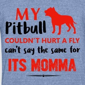 Funny Pit-bull Mommy designs - Unisex Tri-Blend T-Shirt by American Apparel