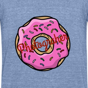 Donut Photgrapher - Unisex Tri-Blend T-Shirt by American Apparel