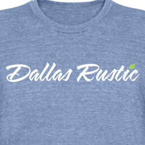 dallas rustic wht - Unisex Tri-Blend T-Shirt by American Apparel
