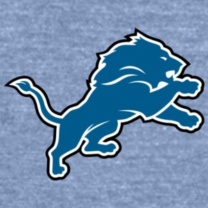 Detroit Lions LOGO - Unisex Tri-Blend T-Shirt by American Apparel