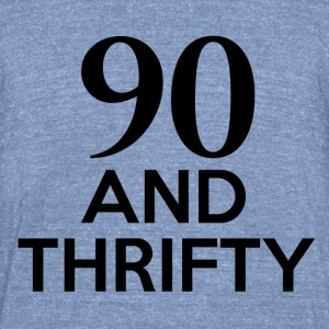90th birthday designs - Unisex Tri-Blend T-Shirt by American Apparel